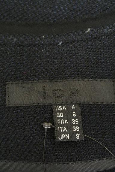 iCB(アイシービー)の古着「シフォン前立てノーカラージャケット(ジャケット)」大画像6へ