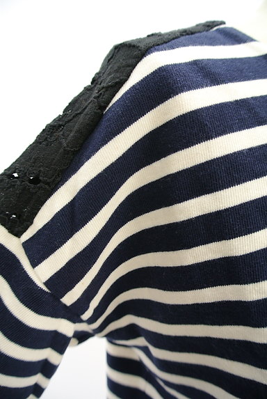 mjuka(ミューカ)の古着「バックレースボーダーカットソー(カットソー・プルオーバー)」大画像4へ