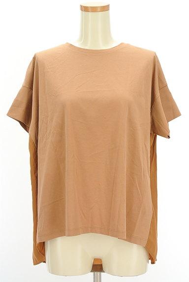 mjuka(ミューカ)の古着「バックサテン切替カットソー(Tシャツ)」大画像1へ