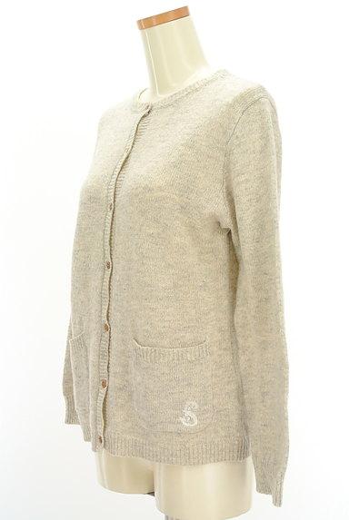 SM2(サマンサモスモス)の古着「ワンポイントニットカーディガン(カーディガン・ボレロ)」大画像3へ