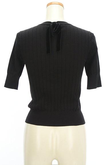 LAISSE PASSE(レッセパッセ)の古着「袖口パールベロアリボン五分袖ニット(ニット)」大画像2へ