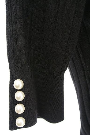 LAISSE PASSE(レッセパッセ)の古着「袖口パールベロアリボン五分袖ニット(ニット)」大画像4へ