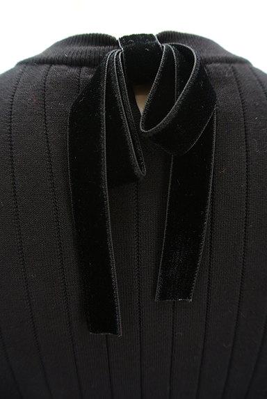 LAISSE PASSE(レッセパッセ)の古着「袖口パールベロアリボン五分袖ニット(ニット)」大画像5へ
