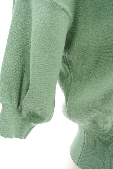 JILL by JILLSTUART(ジルバイジルスチュアート)の古着「コンパクト五分袖リブカーディガン(カーディガン・ボレロ)」大画像5へ