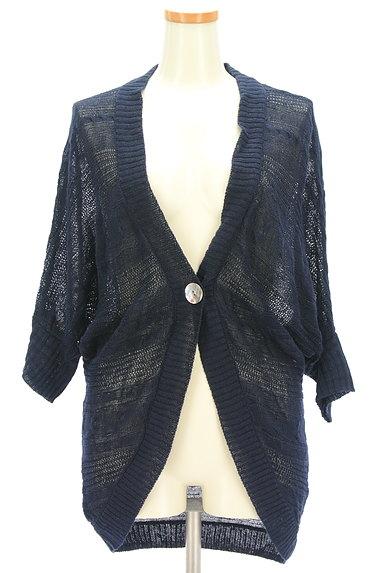 la.f...(ラエフ)の古着「透かし編みドルマンロングカーデ(カーディガン・ボレロ)」大画像1へ