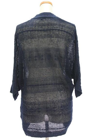 la.f...(ラエフ)の古着「透かし編みドルマンロングカーデ(カーディガン・ボレロ)」大画像2へ