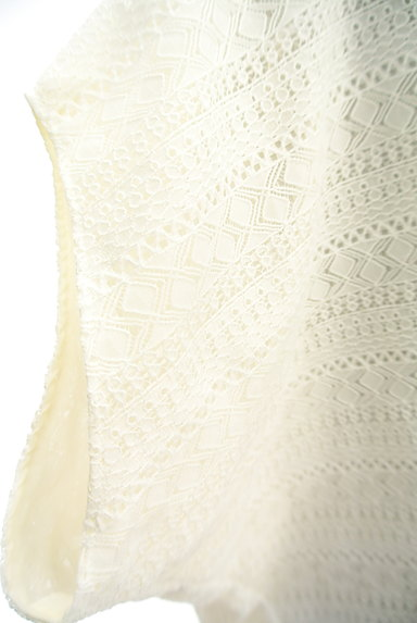 GALLARDAGALANTE(ガリャルダガランテ)の古着「透かし編みレース+シフォンカットソー(カットソー・プルオーバー)」大画像4へ