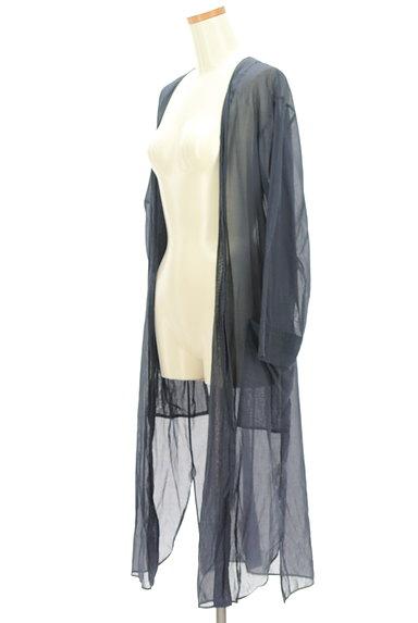 GALERIE VIE(ギャルリーヴィー)の古着「シアーロングカーディガン(カーディガン・ボレロ)」大画像3へ