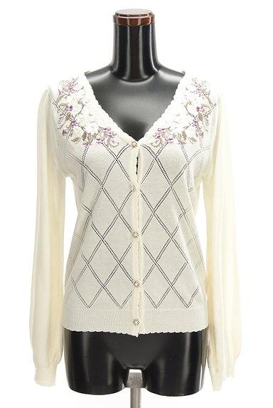 axes femme(アクシーズファム)の古着「花刺繍入りカーディガン(カーディガン・ボレロ)」大画像1へ
