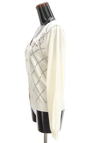 axes femme(アクシーズファム)の古着「花刺繍入りカーディガン(カーディガン・ボレロ)」大画像3へ