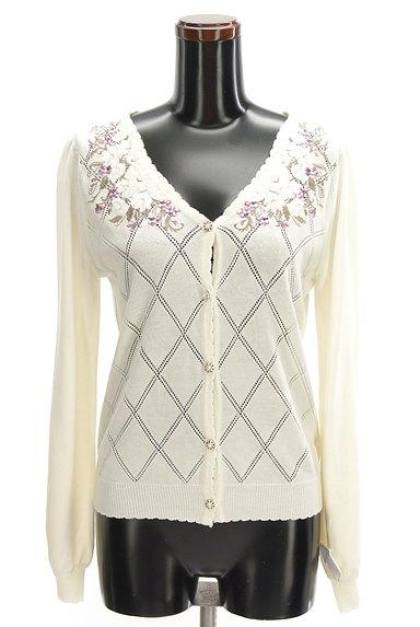 axes femme(アクシーズファム)の古着「花刺繍入りカーディガン(カーディガン・ボレロ)」大画像4へ