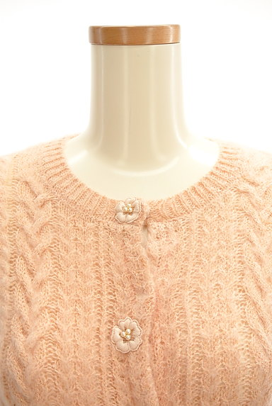 Bon mercerie(ボンメルスリー)の古着「花モチーフ付きカーディガン(カーディガン・ボレロ)」大画像4へ