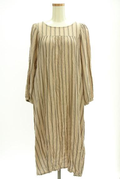 SM2(サマンサモスモス)の古着「ボリューム袖ストライプ柄ワンピース(ワンピース・チュニック)」大画像1へ