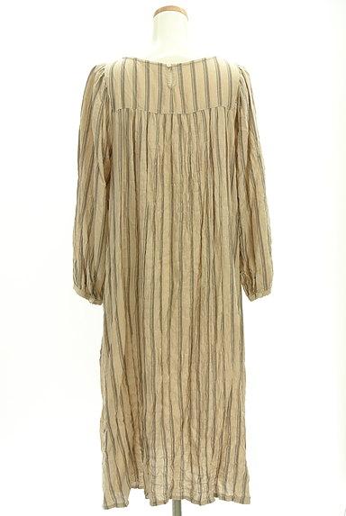 SM2(サマンサモスモス)の古着「ボリューム袖ストライプ柄ワンピース(ワンピース・チュニック)」大画像2へ