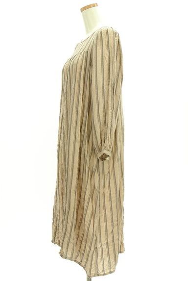 SM2(サマンサモスモス)の古着「ボリューム袖ストライプ柄ワンピース(ワンピース・チュニック)」大画像3へ