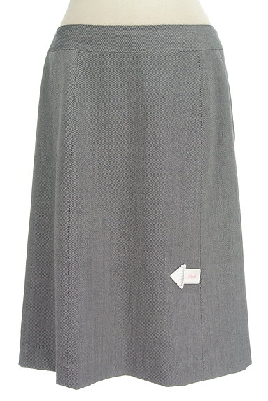 NEW YORKER(ニューヨーカー)の古着「斜めストライプ柄膝丈スカート(スカート)」大画像4へ