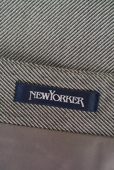 NEW YORKER(ニューヨーカー)の古着「斜めストライプ柄膝丈スカート(スカート)」大画像6へ