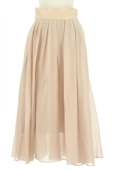 FRAY I.D(フレイアイディー)の古着「シアータックロングフレアスカート(ロングスカート・マキシスカート)」大画像1へ