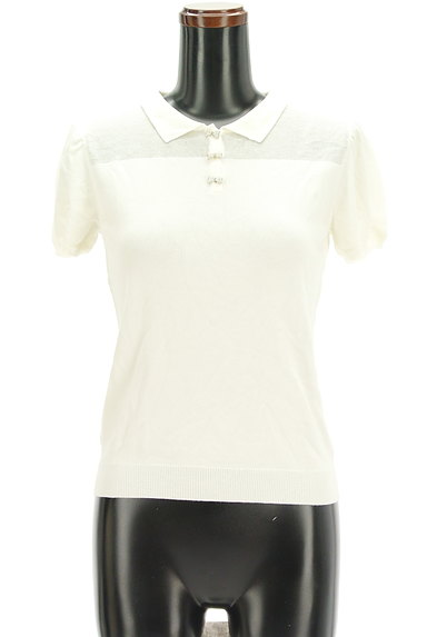 TOCCA(トッカ)の古着「パフスリーブニットポロシャツ(ポロシャツ)」大画像1へ