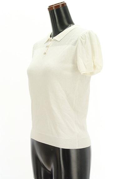 TOCCA(トッカ)の古着「パフスリーブニットポロシャツ(ポロシャツ)」大画像3へ