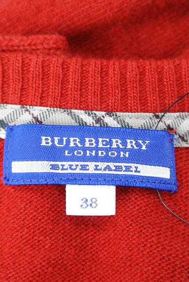 BURBERRY BLUE LABEL(バーバリーブルーレーベル)の古着「バックリボン7分袖ケーブルニット(ニット)」大画像6へ