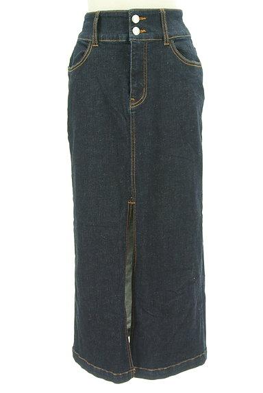 ROYAL PARTY(ロイヤルパーティ)の古着「スリットロングデニムスカート(ロングスカート・マキシスカート)」大画像1へ