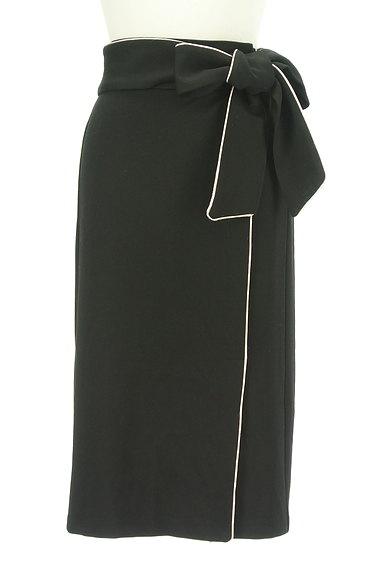 ROYAL PARTY(ロイヤルパーティ)の古着「ウエストリボンパイピングタイトスカート(スカート)」大画像1へ