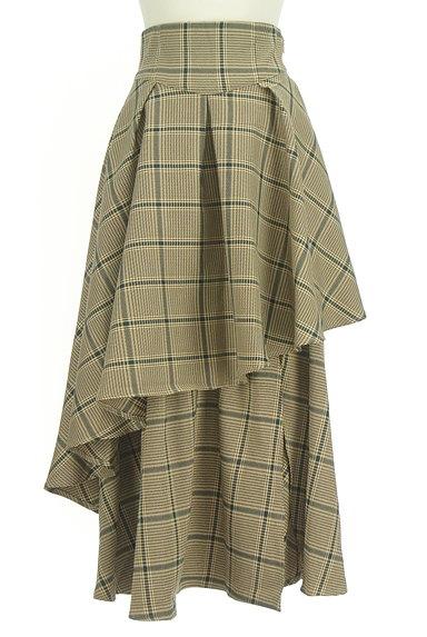 ROYAL PARTY(ロイヤルパーティ)の古着「ボリュームフリルチェック柄スカート(ロングスカート・マキシスカート)」大画像1へ