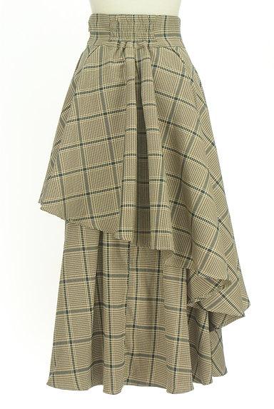 ROYAL PARTY(ロイヤルパーティ)の古着「ボリュームフリルチェック柄スカート(ロングスカート・マキシスカート)」大画像2へ