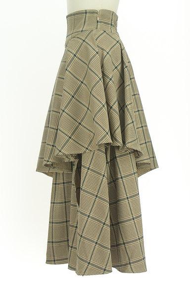 ROYAL PARTY(ロイヤルパーティ)の古着「ボリュームフリルチェック柄スカート(ロングスカート・マキシスカート)」大画像3へ