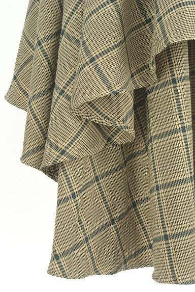 ROYAL PARTY(ロイヤルパーティ)の古着「ボリュームフリルチェック柄スカート(ロングスカート・マキシスカート)」大画像5へ
