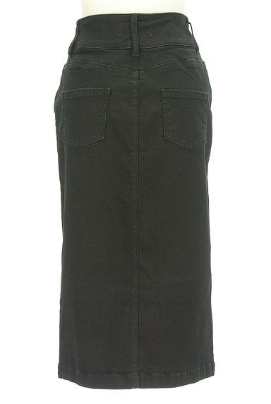 ROYAL PARTY(ロイヤルパーティ)の古着「ブラックデニムスリットスカート(ロングスカート・マキシスカート)」大画像2へ