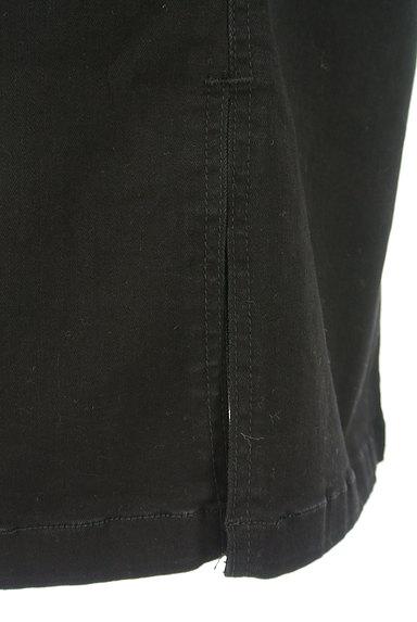 ROYAL PARTY(ロイヤルパーティ)の古着「ブラックデニムスリットスカート(ロングスカート・マキシスカート)」大画像5へ