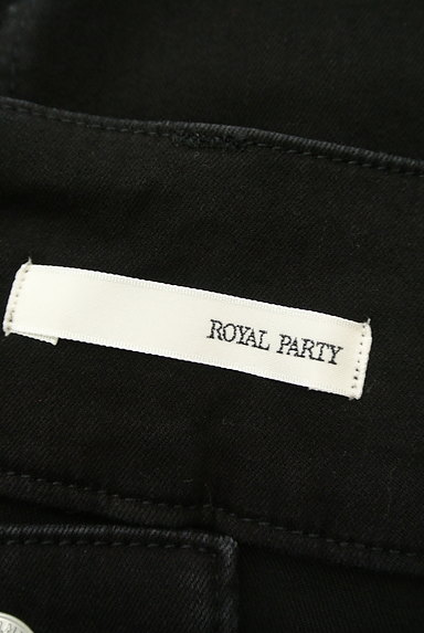 ROYAL PARTY(ロイヤルパーティ)の古着「ブラックデニムスリットスカート(ロングスカート・マキシスカート)」大画像6へ