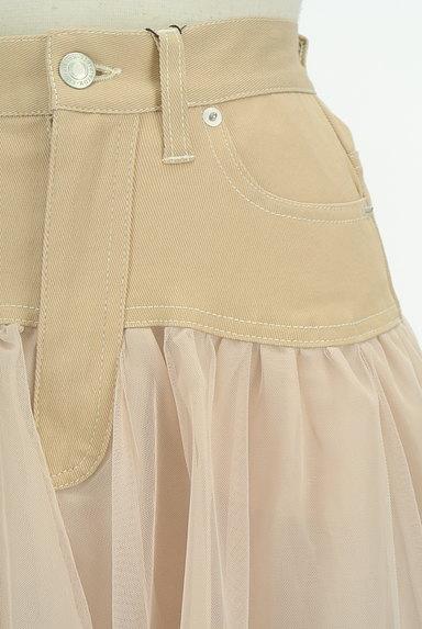ROYAL PARTY(ロイヤルパーティ)の古着「デニム×チュールフレアスカート(ロングスカート・マキシスカート)」大画像4へ