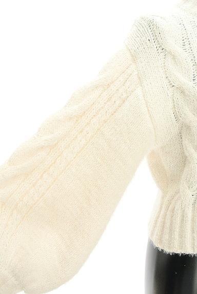 ROYAL PARTY(ロイヤルパーティ)の古着「ハイネックボリューム袖ケーブルニット(ニット)」大画像5へ