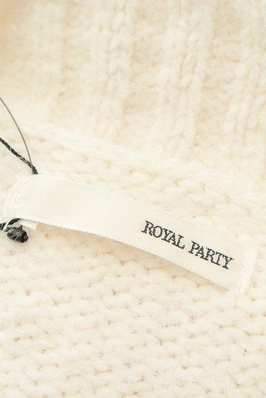 ROYAL PARTY(ロイヤルパーティ)の古着「ハイネックボリューム袖ケーブルニット(ニット)」大画像6へ