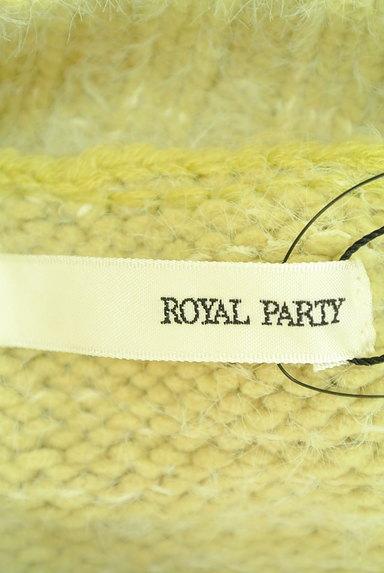 ROYAL PARTY(ロイヤルパーティ)の古着「ボリューム袖ハイネックケーブルニット(ニット)」大画像6へ