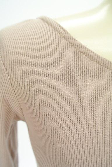 ROYAL PARTY(ロイヤルパーティ)の古着「バックオープン七分袖リブカットソー(ニット)」大画像4へ