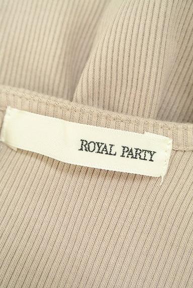 ROYAL PARTY(ロイヤルパーティ)の古着「バックオープン七分袖リブカットソー(ニット)」大画像6へ
