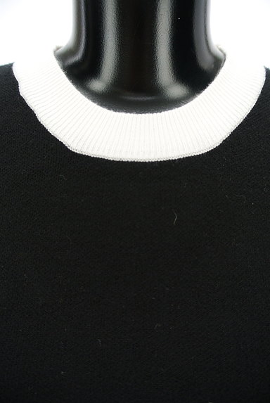 ROYAL PARTY(ロイヤルパーティ)の古着「バイカラーボリューム袖ニット(ニット)」大画像4へ