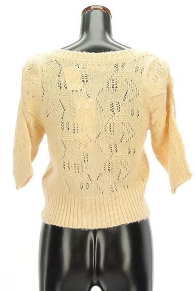 ROYAL PARTY(ロイヤルパーティ)の古着「起毛透かし編み七分袖カーディガン(カーディガン・ボレロ)」大画像2へ