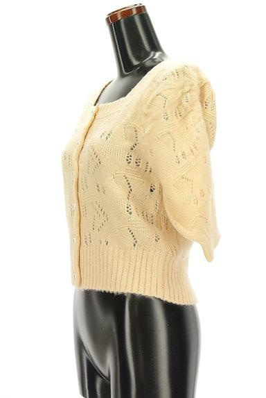 ROYAL PARTY(ロイヤルパーティ)の古着「起毛透かし編み七分袖カーディガン(カーディガン・ボレロ)」大画像3へ