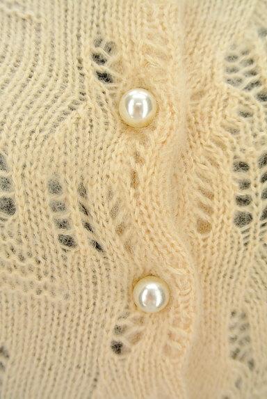 ROYAL PARTY(ロイヤルパーティ)の古着「起毛透かし編み七分袖カーディガン(カーディガン・ボレロ)」大画像4へ