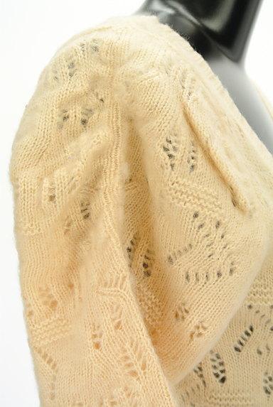 ROYAL PARTY(ロイヤルパーティ)の古着「起毛透かし編み七分袖カーディガン(カーディガン・ボレロ)」大画像5へ