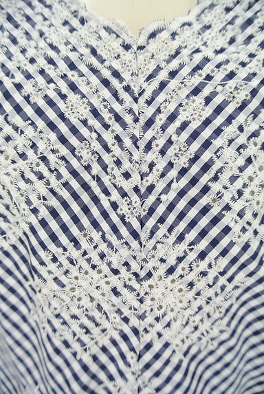 31 Sons de mode(トランテアン ソン ドゥ モード)の古着「花柄刺繍ギンガムチェック柄カットソー(カットソー・プルオーバー)」大画像4へ