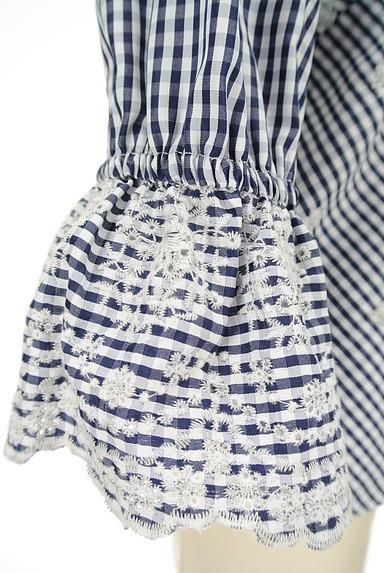 31 Sons de mode(トランテアン ソン ドゥ モード)の古着「花柄刺繍ギンガムチェック柄カットソー(カットソー・プルオーバー)」大画像5へ