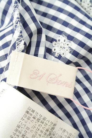 31 Sons de mode(トランテアン ソン ドゥ モード)の古着「花柄刺繍ギンガムチェック柄カットソー(カットソー・プルオーバー)」大画像6へ