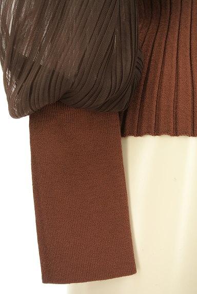 ROYAL PARTY(ロイヤルパーティ)の古着「チュールプリーツ袖リブニット(ニット)」大画像5へ