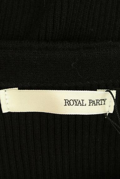 ROYAL PARTY(ロイヤルパーティ)の古着「パワーショルダーリブニットワンピ(ワンピース・チュニック)」大画像6へ